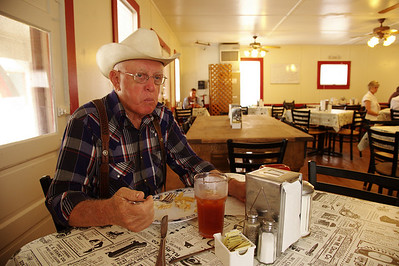 Marvin Weiman, a daily customer at the Burton Cafe