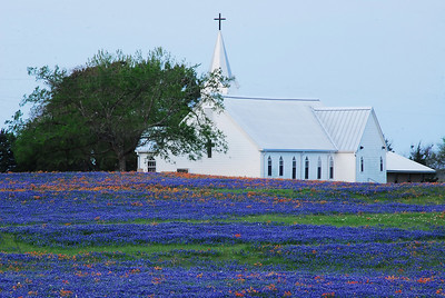 Salem Lutheran Church in Whitehall, TX on SH 362 at sunrise Who else could paint like this?