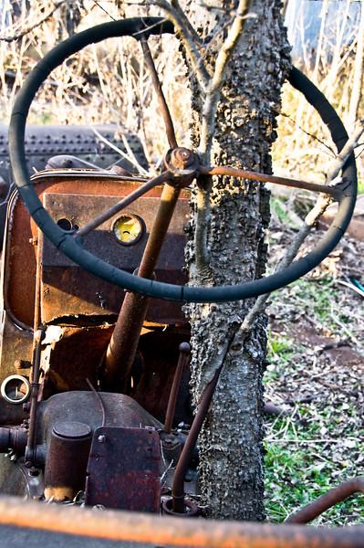 Just noticed this old steering wheel lock.
