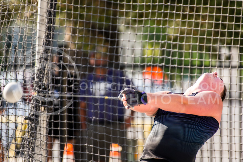 K-State Track and Field thrower, Kade McCall, took first place tossing a mark of 59.73m/195-11 at the Ward Haylett Invitational on May 07, 2021, in Manhattan, KS (Dylan Connell | Collegian Media Group)