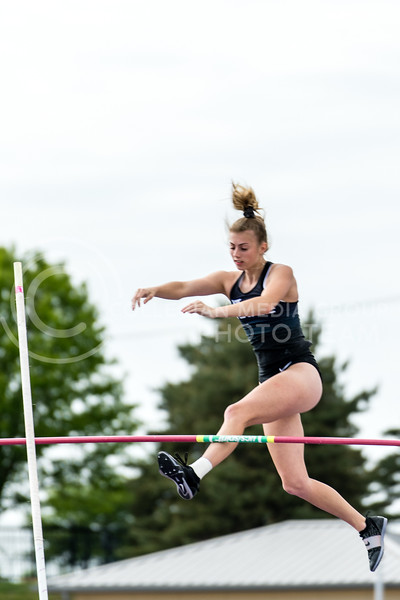 K-State Track and Field pole vaulter, Reagan Hukill, tied for first place with a vault of 3.60m/11-9.75 at the Ward Haylett Invitational on May 07, 2021, in Manhattan, KS (Dylan Connell | Collegian Media Group)