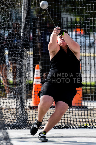 K-State Track and Field thrower, Reese Willis, took third place tossing a mark of 54.30m/175-11 at the Ward Haylett Invitational on May 07, 2021, in Manhattan, KS (Dylan Connell | Collegian Media Group)