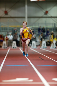 Carsyn Spurgeon of Iowa State competes in the 60 meters at the 2017 ISU Classic Track Meet in Ames, Iowa on February 9, 2017. Photo by Wesley Winterink.