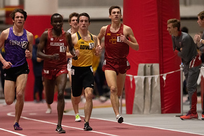 Iowa State distance runners compete in the ISU Classic at Ames, Iowa on February 8, 2019. Photo © Wesley Winterink.