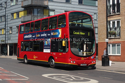 Route 1 - WVL257, LX06EBG, London General