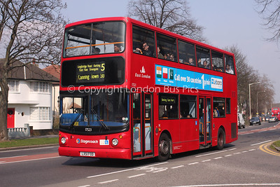 Route 5 - 17523, LX51FOD, Stagecoach London