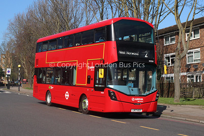 Route 2 - HV301, LK17AGX, Arriva London South