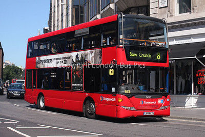 Route 8 - 15099, LX09FYU, Stagecoach London