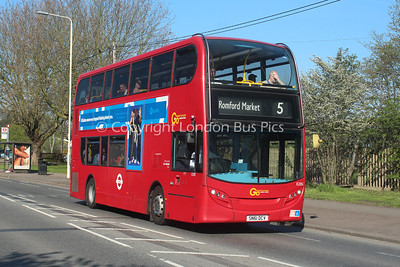 Route 5 - E205, SN61DCV, London General (T/A Blue Triangle)