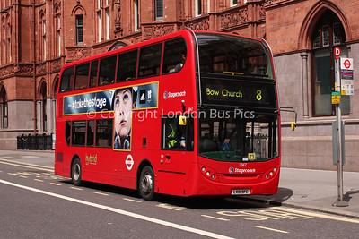Route 8 - 12147, LX61DFC, Stagecoach London