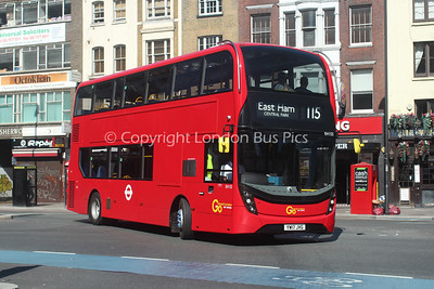 Route 115 - EH153, YW17JVG, London General (T/A Blue Triangle)