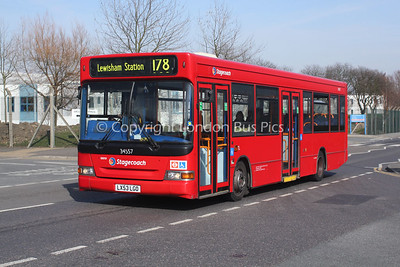 Route 178 - 34557, LX53LGO, Stagecoach London