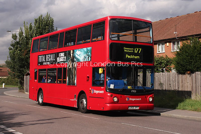 Route 177 - 17953, LX53JYT, Stagecoach in London