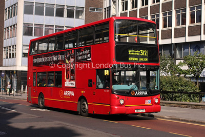 Route 312 - DLA220, X501CGO, Arriva London South