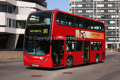 Route 312 - T54, LJ08CYG, Arriva London South