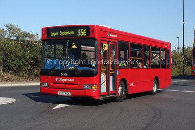 Route 356 - 34366, LV52HGC, Stagecoach London