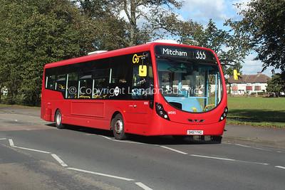 Route 355 - WS95, SK67FKG, London General (T/A Metrobus)