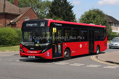 Route 362 - 36666, SN17MLL, Stagecoach London