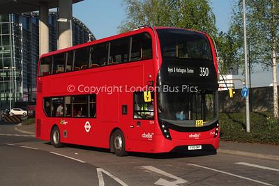 Route 350 - 2524, YX15OWP, Abellio London