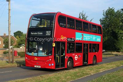 Route 353 - E213, SN61DDK, London General (T/A Metrobus)