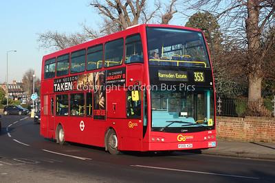 Route 353 - 898, PO59KGA, London General (Metrobus)