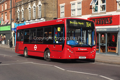 Route 354 - 36307, LX56EAC, Stagecoach London