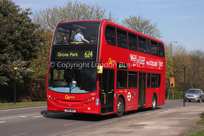 Route 624 - E181, SN61BHU, London General