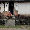Old Man Watching Life Passes By in Tenganan Village