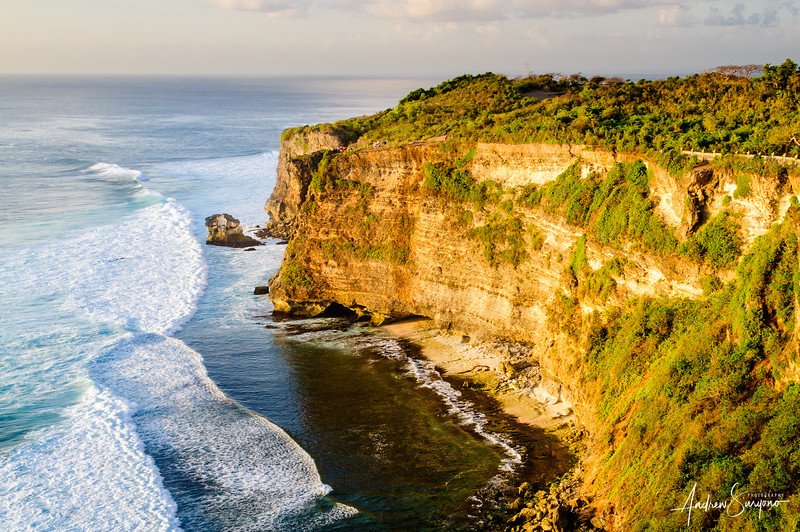 Rock Cliff in Uluwatu Before Sunset