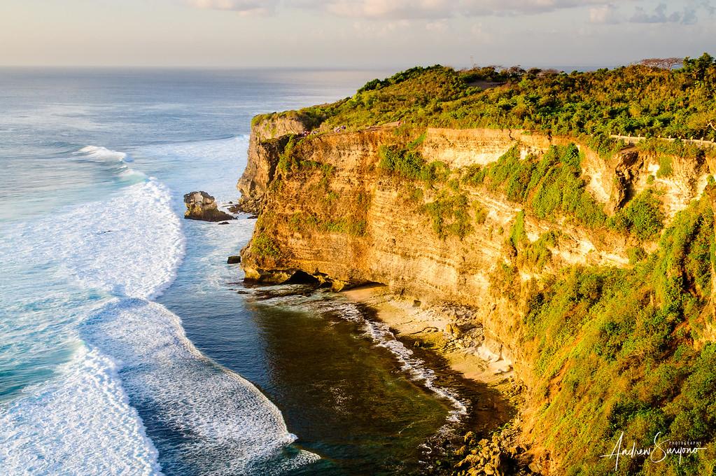 Rock Cliff in Uluwatu Before Sunset