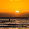 Fishermen During Sunset in Padang Padang Beach