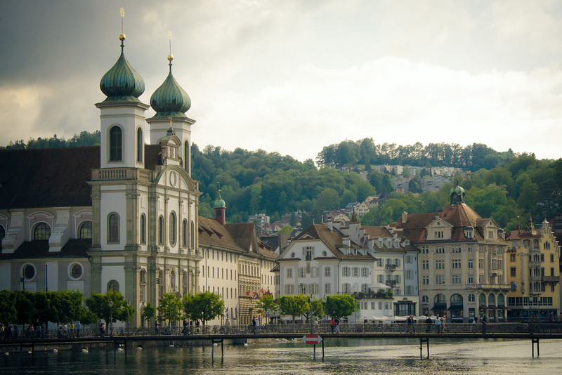 Jesuit Church Under Soft Light - Lucerne, Switzerland