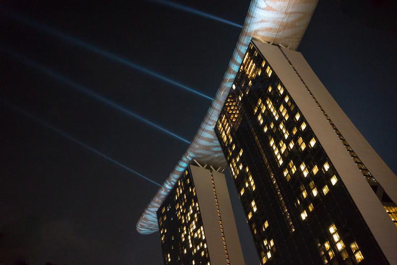 Marina Bay Sands Hotel at Night - Singapore