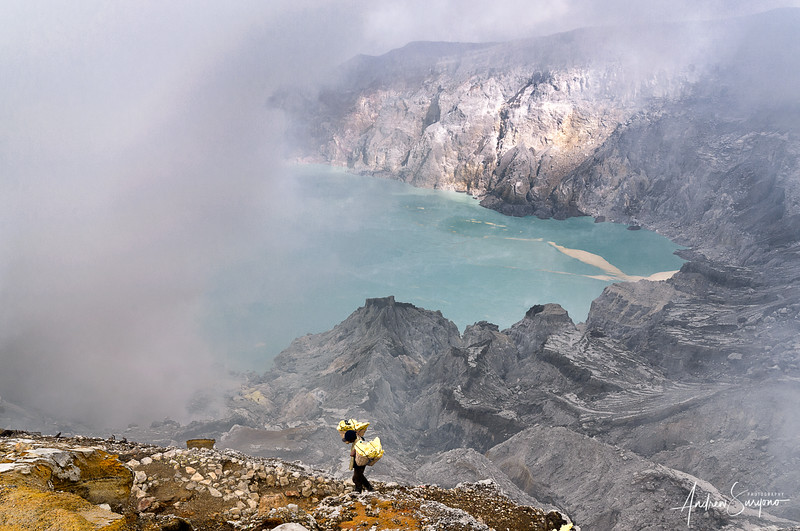 Ijen Crater Lone Worker