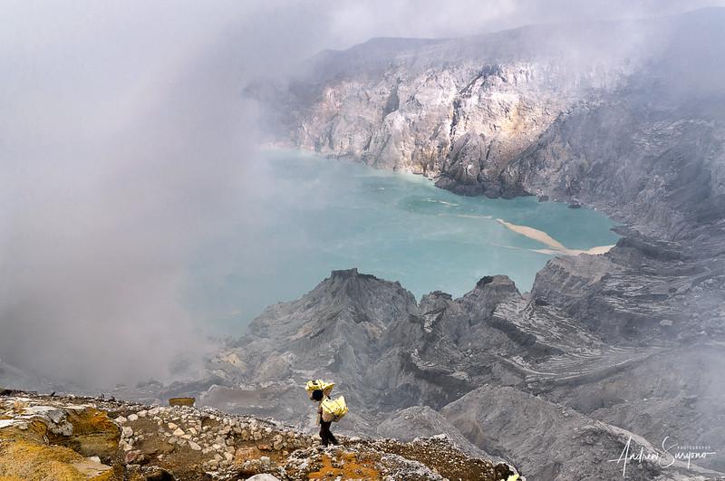Ijen Crater Lone Worker