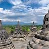 Stupas + Clear Sky