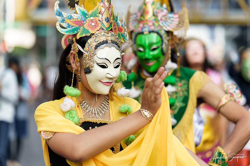 A Lady's Grace at East Java Mask Festival
