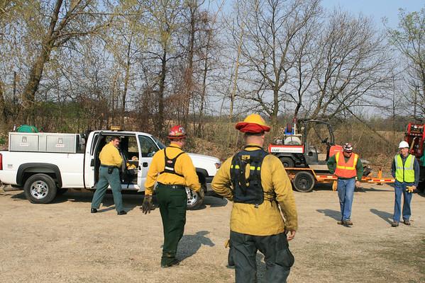TGF Forestry And Fire  Wildland Burns Depue Illinois ( Lasalle County )