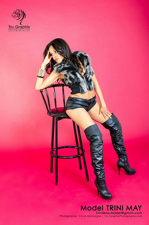 Model: Trini May - Black and Pleather