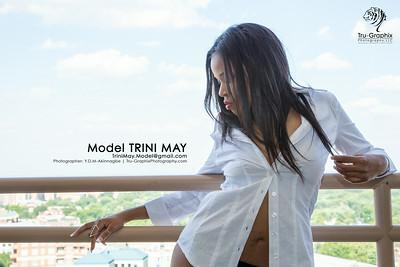 Model: Trini May - TShirt and Sox