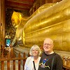 Reclining Buddha and us at Wat Pho