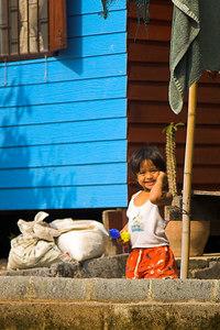 Bangkok Child by Riverbank
