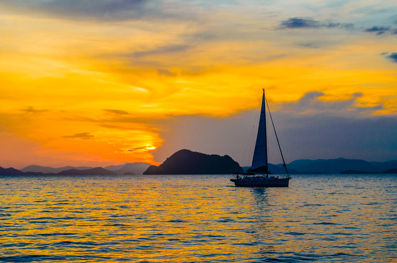 Sunset on the Andaman Sea