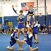 SENTINEL & ENTERPRISE / BRETT CRAWFORD<br /> Leominster High School male students perform a skit while dressed up as female cheerleaders during the school's pep rally, Tuesday.