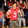 Fitchburg High School senior player Sam Avilez is introduced during the school's pep rally, Wednesday morning.<br /> SENTINEL & ENTERPRISE / BRETT CRAWFORD