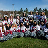 The Fitchburg High cheerleaders gather for a photo during the Thanksgiving Day game on Thursday. SENTINEL & ENTERPRISE / Ashley Green