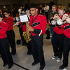 The Fitchburg High Marching Band performs during the Thanksgiving pep rally on Wednesday morning. SENTINEL & ENTERPRISE / Ashley Green