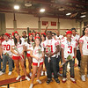 SENTINEL & ENTERPRISE / CONNOR GLEASON<br /> Fitchburg High School's seniors gather during the pep rally at FHS Tuesday evening. FHS will face off against Leominster High School during the annual Turkey Bowl at Doyle Field in Leominster Thanksgiving morning.
