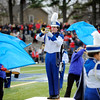 SENTINEL & ENTERPRISE / BRETT CRAWFORD<br /> Leominster High School student Ricky O'Leary plays the trumpet during half time of the Thanksgiving Day game of Fitchburg High School against Leominster High School, Thursday at Doyle Field.
