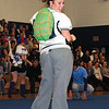 SENTINEL & ENTERPRISE / SARAH BRITAIN  Leominster High School senior Victoria Chapman perfoms in a skit during the school's pep rally, Tuesday.